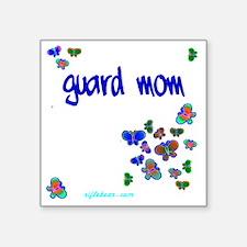 "Guard Mom (b) Square Sticker 3"" x 3"""