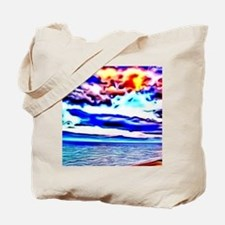 dramatic evening colorful painting Tote Bag
