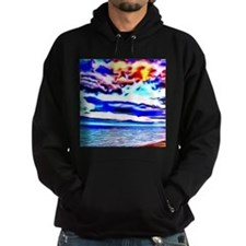 dramatic evening colorful painting Hoodie
