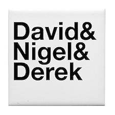 David Nigel Derek-black Tile Coaster