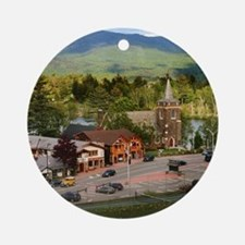 LakePlacidS small poster Round Ornament