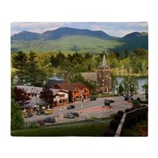 LakePlacidS small poster Throw Blanket