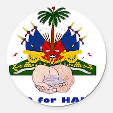 H2O for Haiti Round Car Magnet