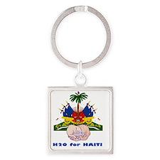 H2O for Haiti Square Keychain