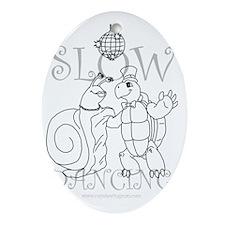 2-Slow Dancing copy Oval Ornament