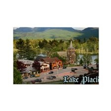 LakePlacidS Postcard Rectangle Magnet