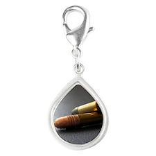 Bullet Silver Teardrop Charm