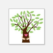 "Tree Hugger Square Sticker 3"" x 3"""