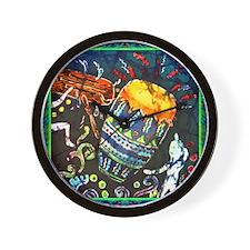 drumscongalighterbordered12x12-sueduda Wall Clock