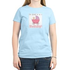 mommy to be (front only) Women's Pink T-Shirt