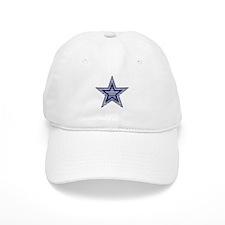 Blue and Silver Plaid Baseball Baseball Cap