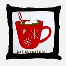 Holiday Hot Chocolate Throw Pillow