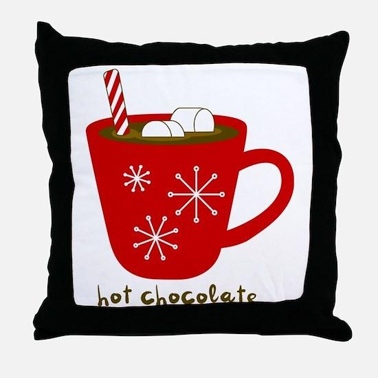 Holiday Hot Chocolate Throw Pillow