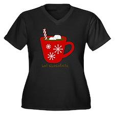 Holiday Hot  Women's Plus Size Dark V-Neck T-Shirt
