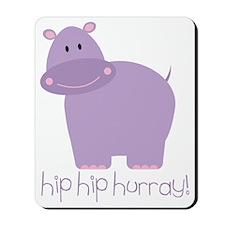 Hip Hip Hurray Hippo Mousepad