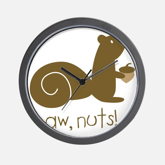 Aw Nuts Squirrel Wall Clock