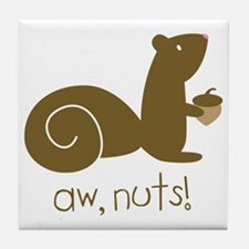 Aw Nuts Squirrel Tile Coaster