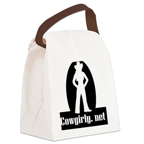 2-cowgirly logo10 Canvas Lunch Bag