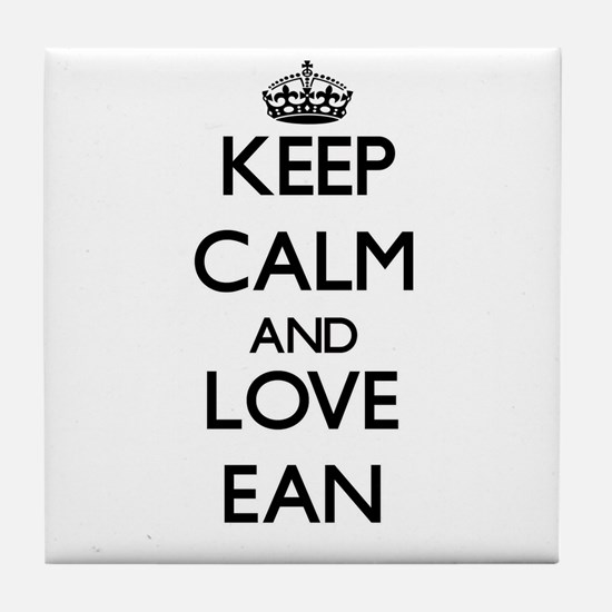 Keep Calm and Love Ean Tile Coaster