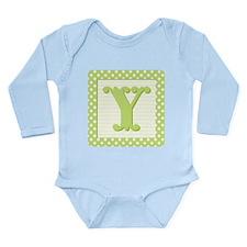 Baby Block Letter Y Body Suit