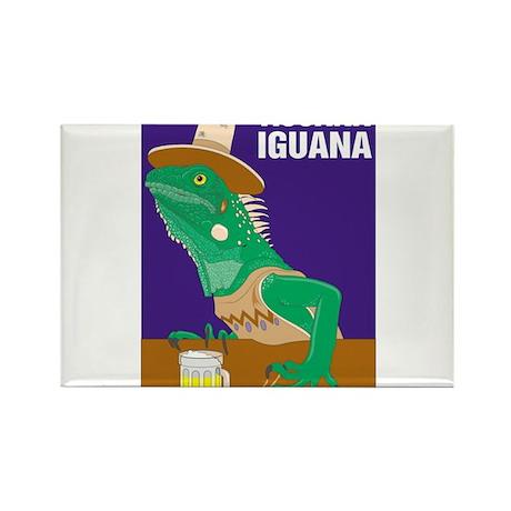 Tijuana Iguana Rectangle Magnet