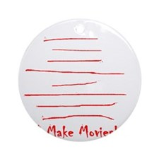 Moviemaker-Tm Round Ornament