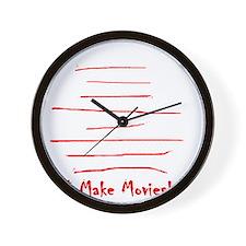 Moviemaker-Tm Wall Clock