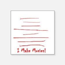 "Moviemaker-Tm Square Sticker 3"" x 3"""