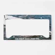 e allen ssbn large poster License Plate Holder