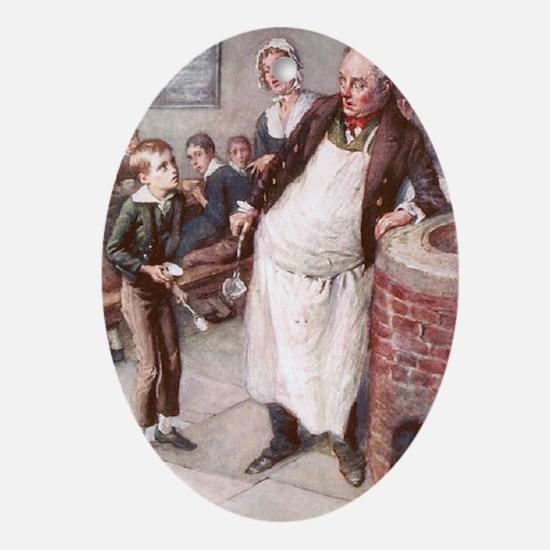 Dickens  -Dickens  -Please, Sir, I w Oval Ornament