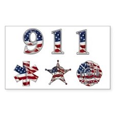 911 Rectangle Decal