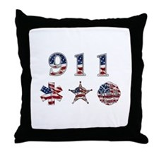 911 Throw Pillow