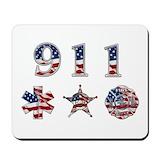 911 dispatcher Mouse Pads