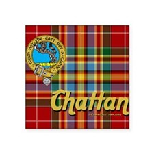 "chattan9.5x8 Square Sticker 3"" x 3"""