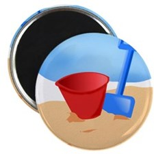 Beach Sand Bucket and Pail Magnets