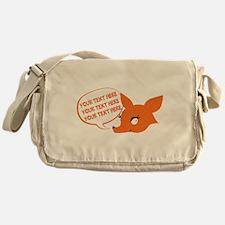 CUSTOM TEXT Cute Fox Messenger Bag