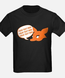 CUSTOM TEXT Cute Fox T-Shirt