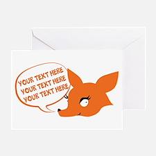 CUSTOM TEXT Cute Fox Greeting Cards