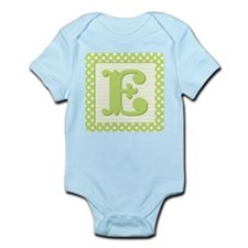 Baby Block Letter E Body Suit