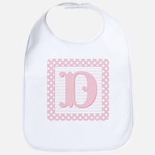 Baby Block Letter D Bib