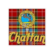 """chattan11w9t-a Square Sticker 3"""" x 3"""""""