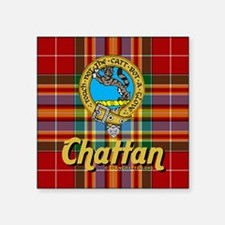 "chattan4.5x4.5 Square Sticker 3"" x 3"""
