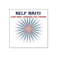 """helphaiti Square Sticker 3"""" x 3"""""""