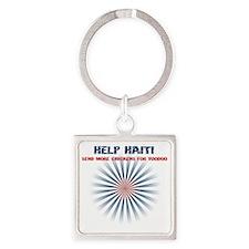 helphaiti Square Keychain