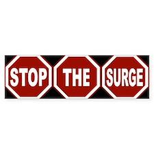 Stop the surge Bumper Bumper Sticker