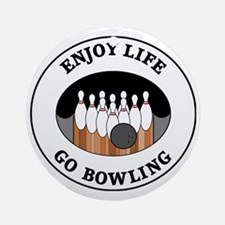 bowling1 Round Ornament