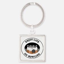 bowling1 Square Keychain