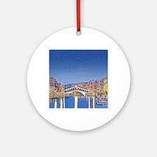 Stars over Venice mp Round Ornament