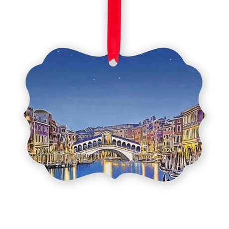 Stars over Venice mp Picture Ornament