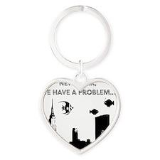 2-nyc problem2small Heart Keychain